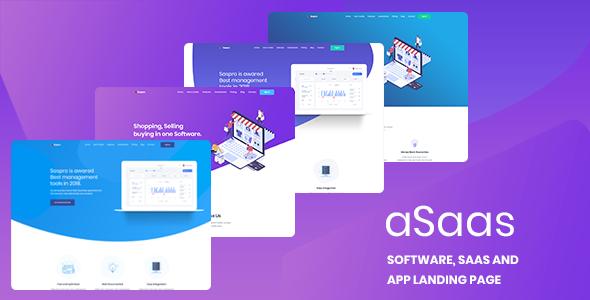Image of aSaas - Software, App, Saas Landing HTML Template