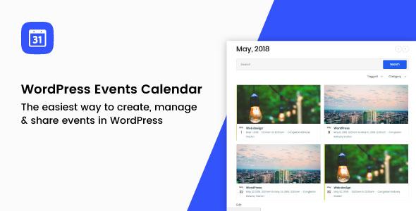 Bam Events - WordPress Event Calendar Plugin            Nulled