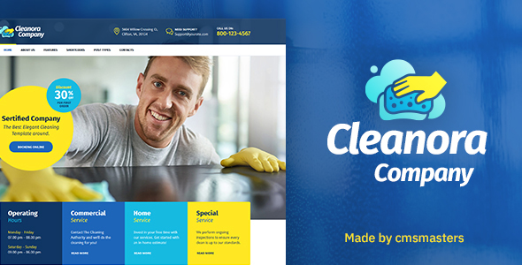 Cleanora - Cleaning Services Theme - Business Corporate