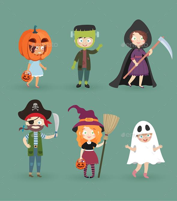 Kids In Halloween Costumes - Halloween Seasons/Holidays