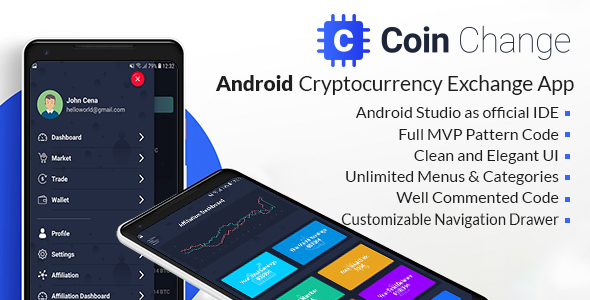 Coin change - Android Cryptocurrency Exchange Template            Nulled