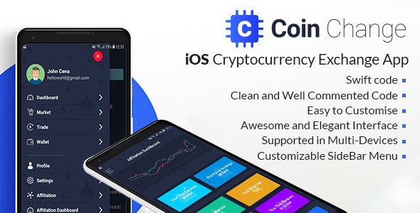 Coin change - iOS Cryptocurrency Exchange Template            Nulled
