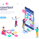 Content Design for Mobile Interface - GraphicRiver Item for Sale