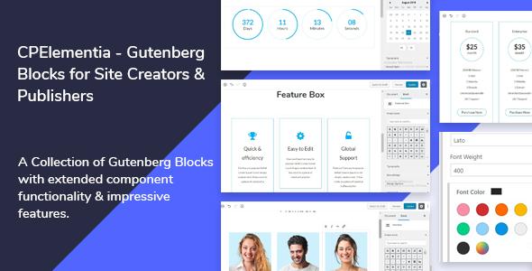 CPElementia - Gutenberg Blocks for Site Creators            Nulled
