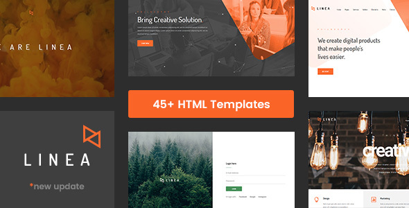 Image of Linea - Creative Multipurpose Website Template