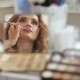Put Makeup On. Beautiful Young Redhead Woman Putting Her Makeup on in Front of Camera - VideoHive Item for Sale