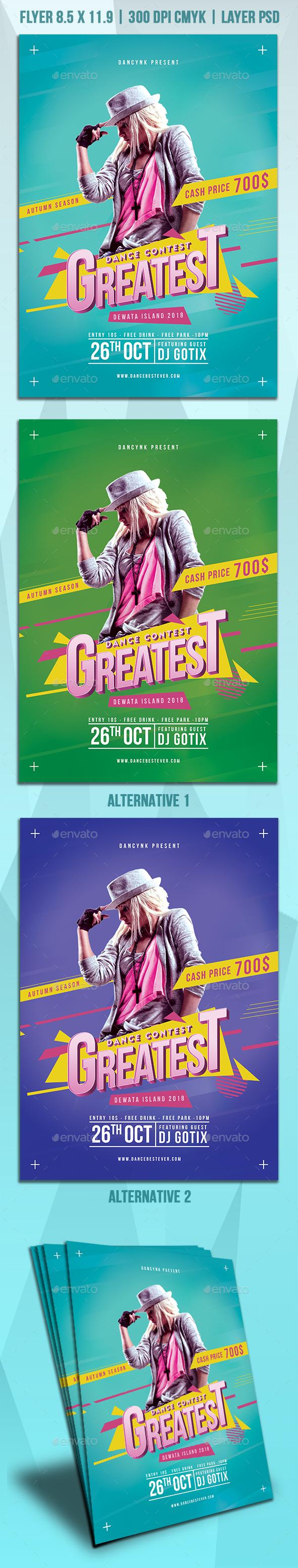 Dance Contest Flyer - Clubs & Parties Events