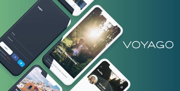 Voyago - Travel App Sketch template - Sketch Templates