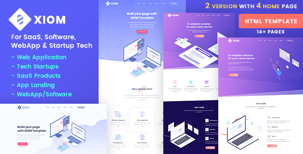 XIOM – SaaS, Software, WebApp and Startup Tech HTML Template - Software Technology
