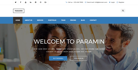 Paramin - Responsive Multipurpose Html5 Template - Business Corporate