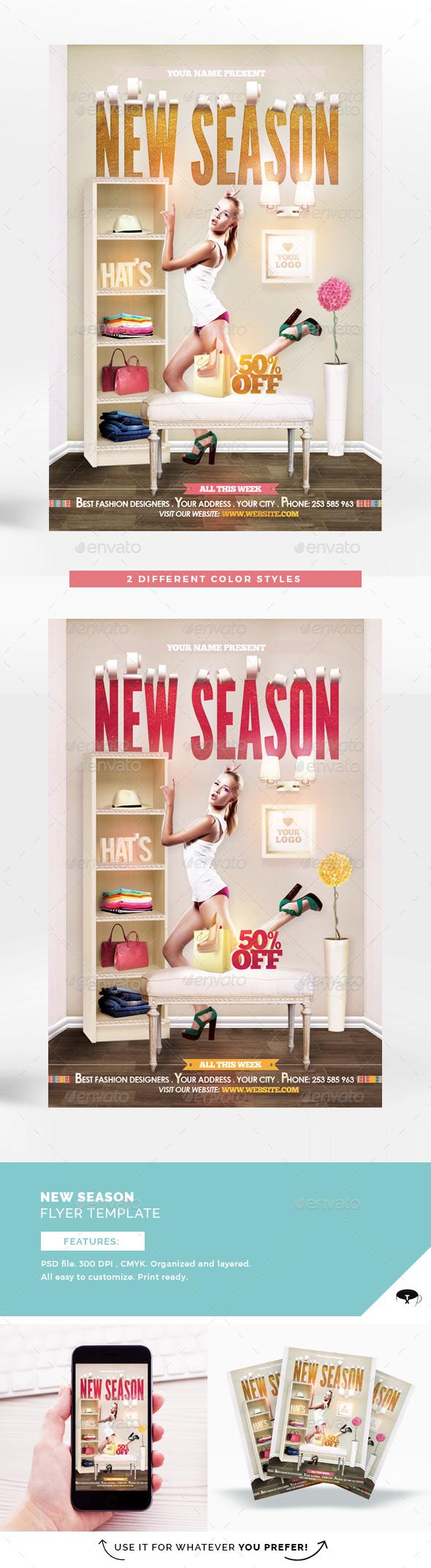 New Season Flyer Template - Flyers Print Templates