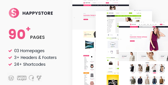Image of HappyStore   Multi-Purpose Responsive Ecommerce WordPress Theme