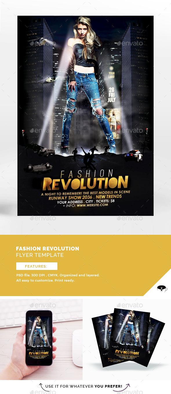 Fashion Revolution Flyer Template - Flyers Print Templates