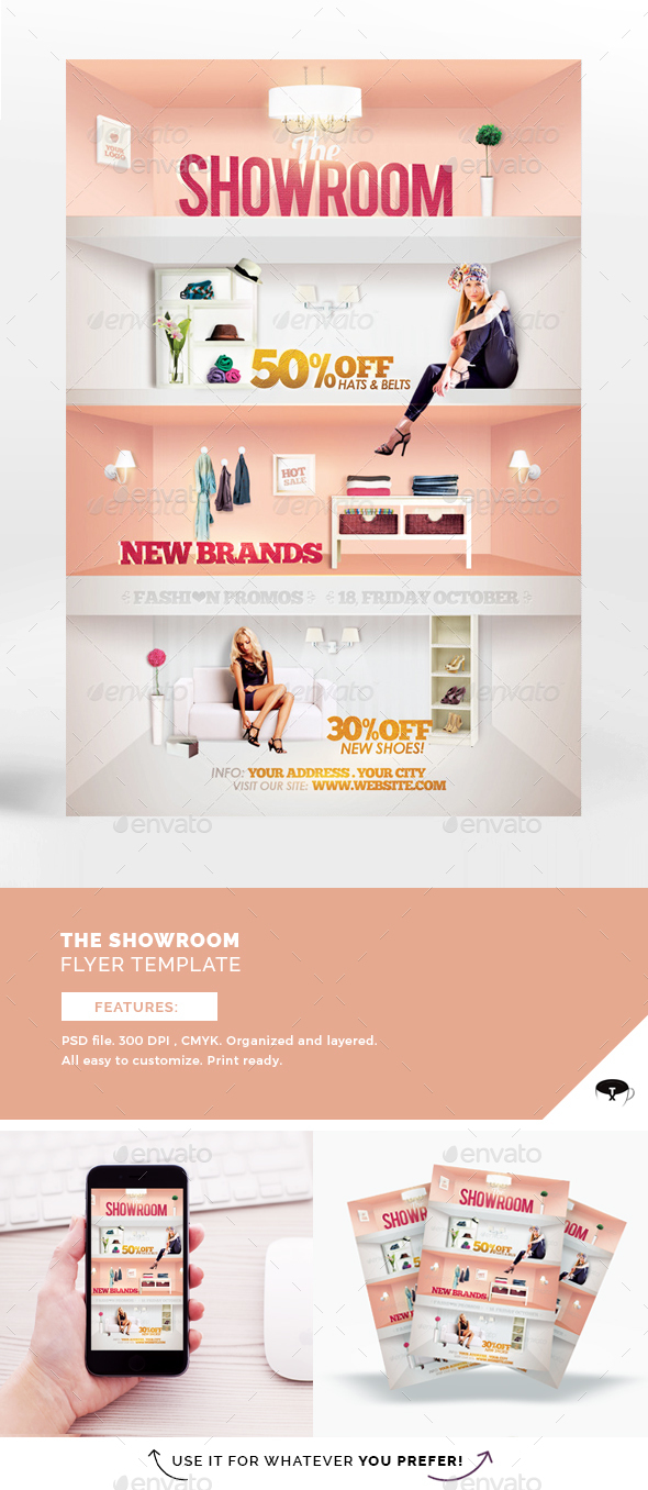 The Showroom Flyer Template - Flyers Print Templates