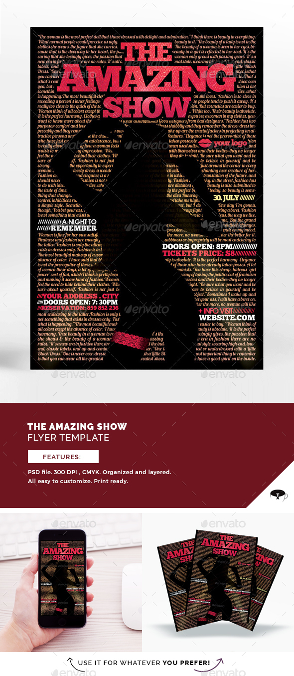 The Show Flyer Template - Flyers Print Templates