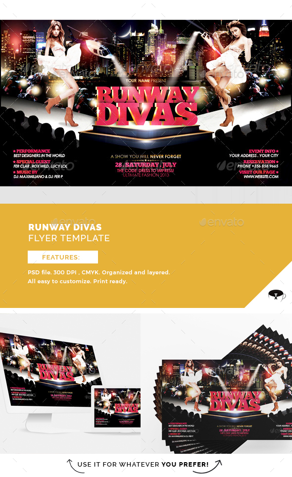 Runway Divas Flyer Template - Events Flyers