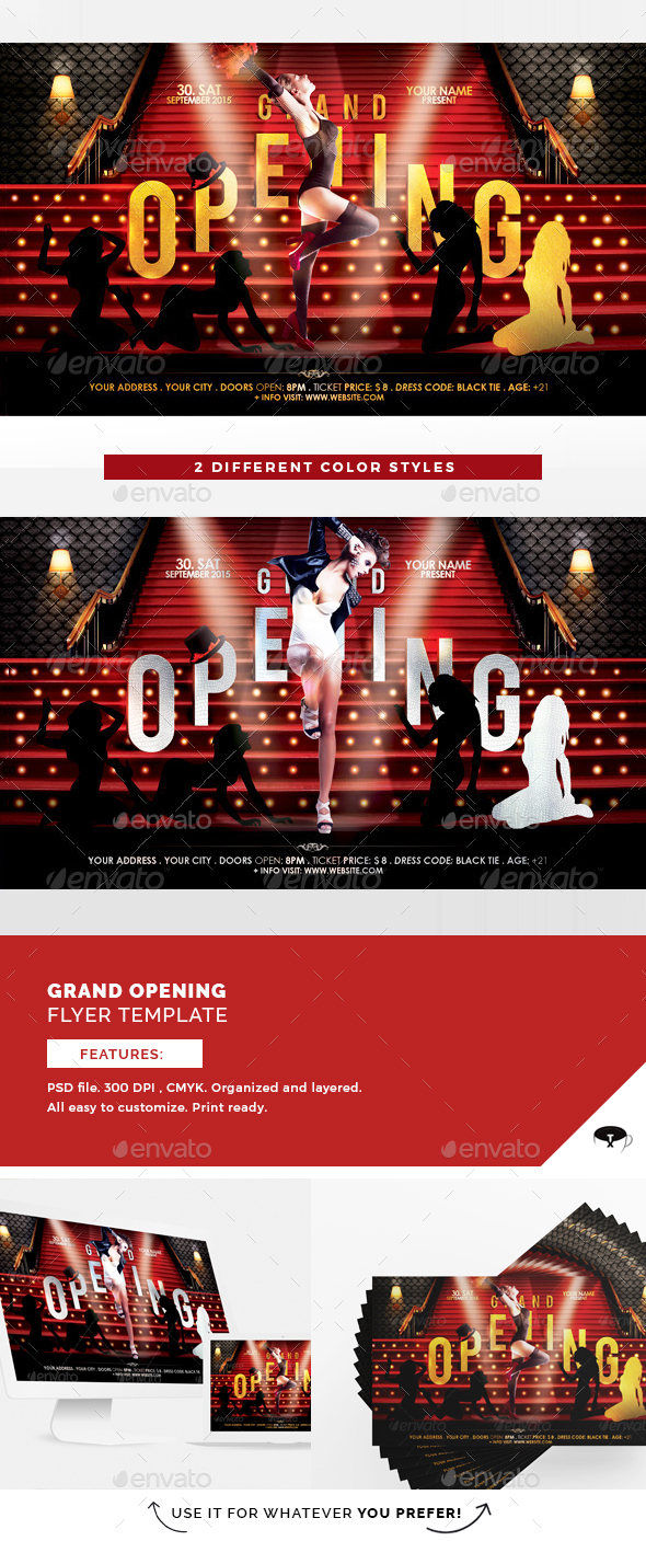Grand Opening Flyer Template - Clubs & Parties Events