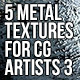 5 Metal Textures for CG Artists Vol 3 - GraphicRiver Item for Sale