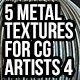 5 Metal Textures for CG Artists Vol 4 - GraphicRiver Item for Sale