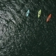Aerial Drone View of Group Kayak in Lake - VideoHive Item for Sale