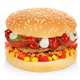 Big hamburger isolated - PhotoDune Item for Sale