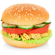 Veggie burger isolated - PhotoDune Item for Sale