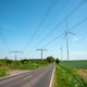 Highway, power transmission lines and wind energy plants  - PhotoDune Item for Sale