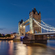 The illuminated Tower Bridge in London - PhotoDune Item for Sale