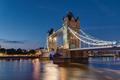 The illuminated Tower Bridge in London - PhotoDune Item for Sale