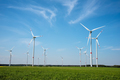 Modern wind energy generators on a sunny day - PhotoDune Item for Sale