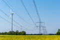 Power supply lines and some wind turbines - PhotoDune Item for Sale