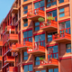 Modern red multi-family apartment house - PhotoDune Item for Sale