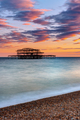 The ruin of the Brighton West Pier - PhotoDune Item for Sale