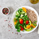 Diet menu. Healthy vegetarian salad of fresh vegetables - PhotoDune Item for Sale