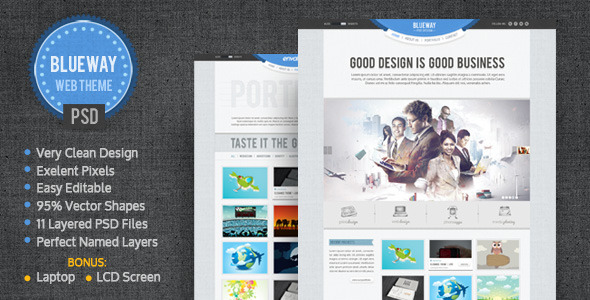 BlueWay – Minimal & Clean PSD Template