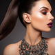 Beauty Brunette Woman with Perfect Makeup. Beautiful Professional Holiday Make-up. - PhotoDune Item for Sale