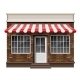 Brick Small Store or Boutique Front Facade - GraphicRiver Item for Sale