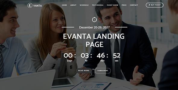 Evanta - Responsive Event Landing Page - Events Entertainment