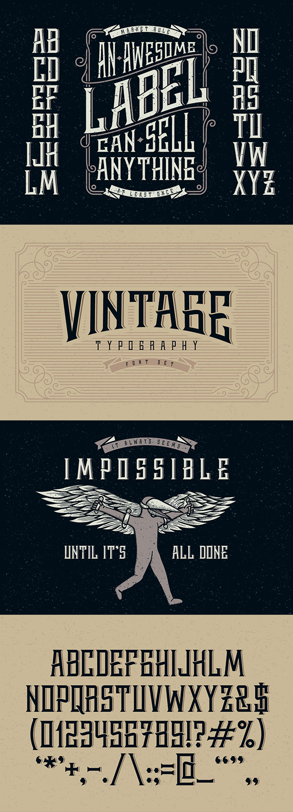 Whiskey label font - Decorative Fonts
