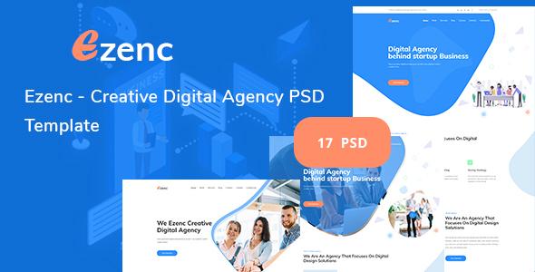 Ezenc  - Creative Digital Agency & Multipurpose PSD Template - Creative PSD Templates
