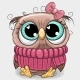 Owl in Pink Sweater - GraphicRiver Item for Sale