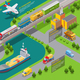 Isometric Transportation Infographic Template - GraphicRiver Item for Sale