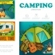 Cartoon Summer Camping Infographic Template