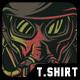 Gas Mask T-Shirt Design