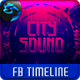 City Sound FB Timeline Cover - GraphicRiver Item for Sale