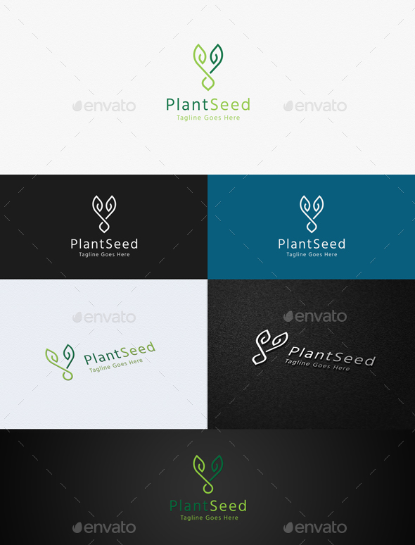 Plant Seed - Nature Logo Templates