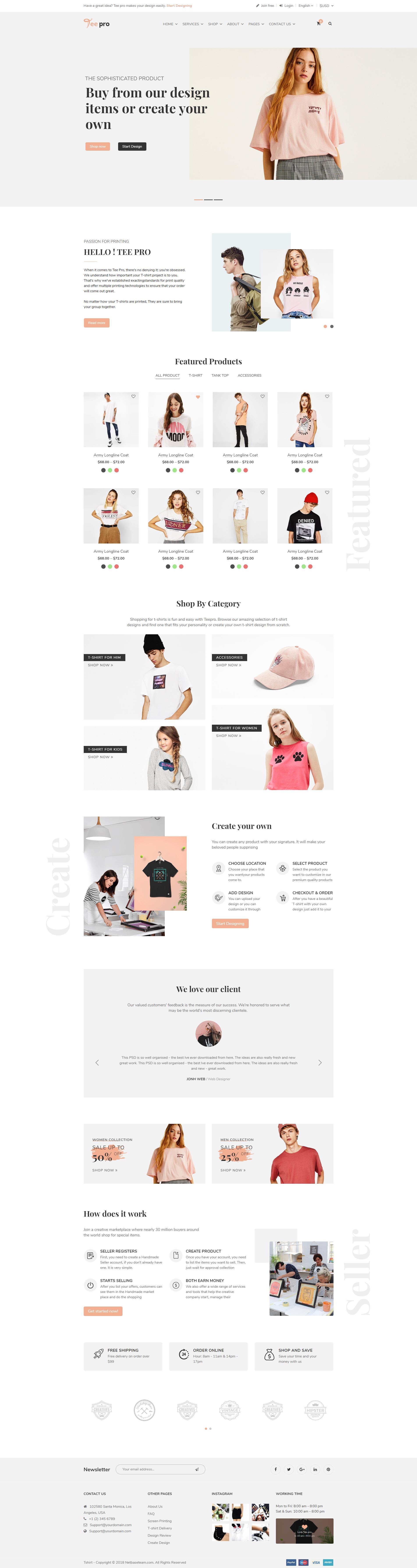6fe092984 TEEPRO - Woocommerce Custom T-Shirt Designer WordPress Theme by ...