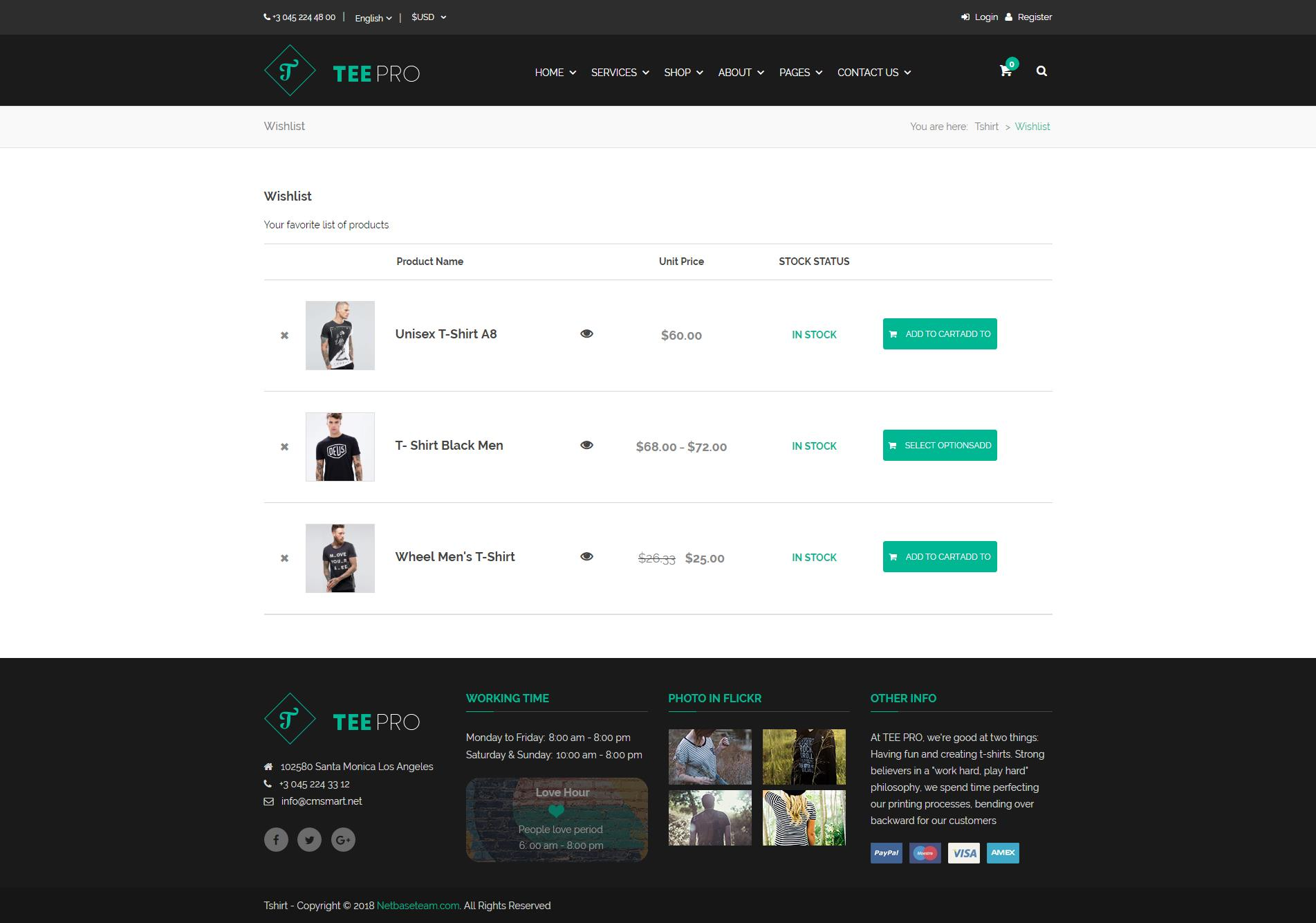 Teepro Woocommerce Custom T Shirt Designer Wordpress Theme By Netbaseteam