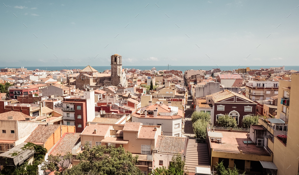 View of Malgrat del Mar, Spain - Stock Photo - Images