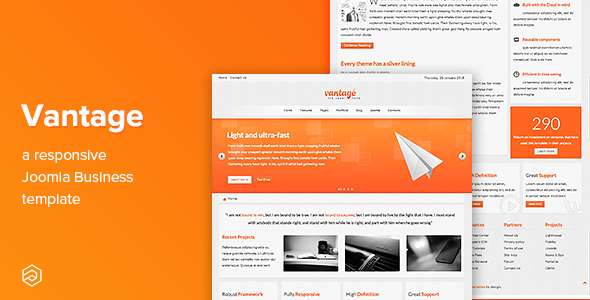 Vantage - Responsive Business Joomla Template - Business Corporate